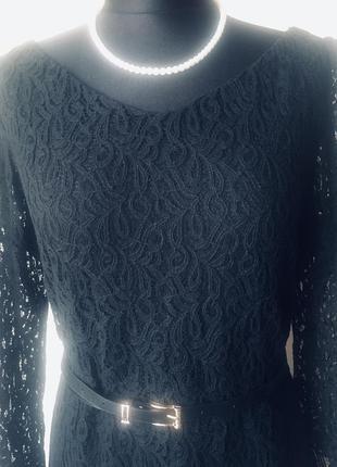 Стильное кружевное платье на подкладке1 фото