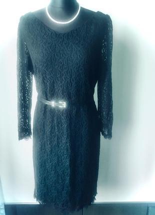 Стильное кружевное платье на подкладке2 фото