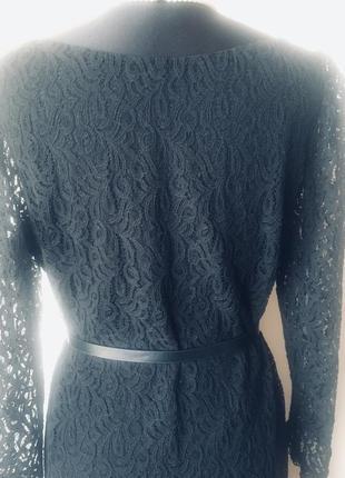 Стильное кружевное платье на подкладке7 фото