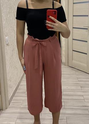 Свободные штаны с высокой талией primark
