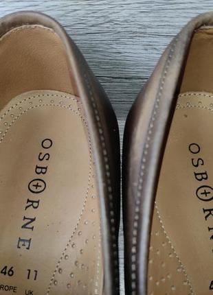 Osborne 46p туфли мужские лоферы кожа индия7 фото