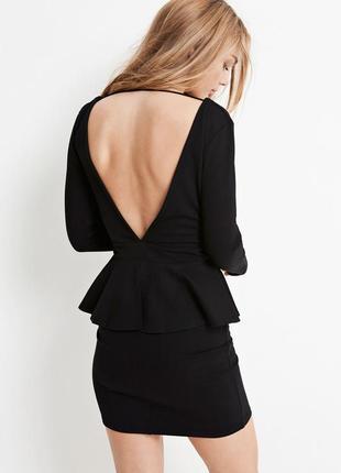 Черное платье | платье | платье с открытой спиной