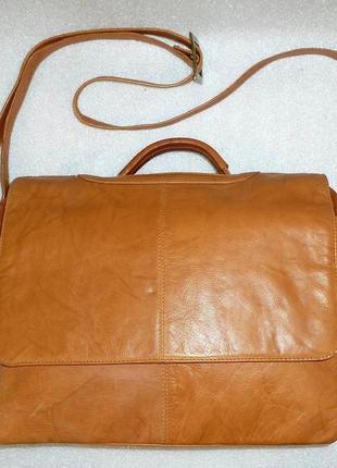 Сумка (портфель) *visconti* натуральная кожа