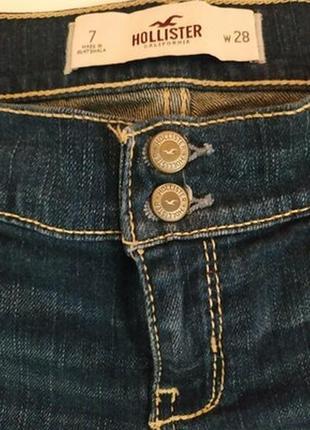 Супер модные фирменные джинсовые шорты hollister c подворотом3 фото