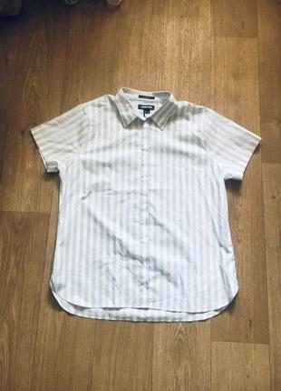 Батал большой размер легкая летняя натуральная блуза блузка блузочка рубашка