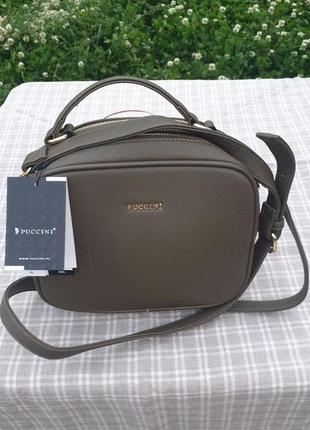 Новая зеленая женская сумка puccini