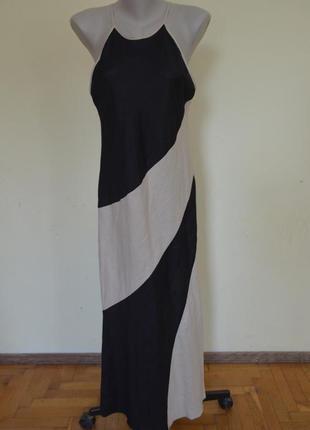 Очень красивое натуральное льняное брендовое платье лен 59% wallis