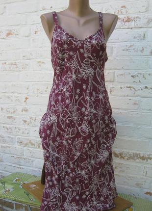 Платье сарафан батал принт вискоза под шелк