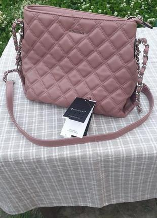 Новая розовая женская сумка puccini