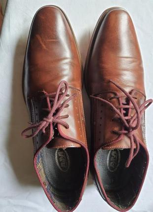 Шикарнейшие фирменные туфли am shoe company(германия) 41 размер1 фото