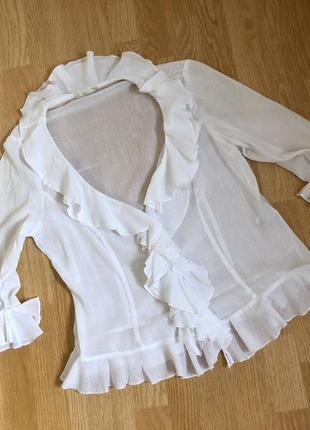 Mars&spenser хлопковая блуза, размер указан 16