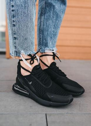 Женские кроссовки nike air max 270 «black»
