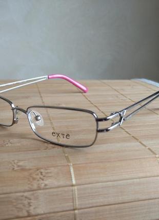 Распродажа фирменная металлическая оправа под линзы, очки exte 264 новая