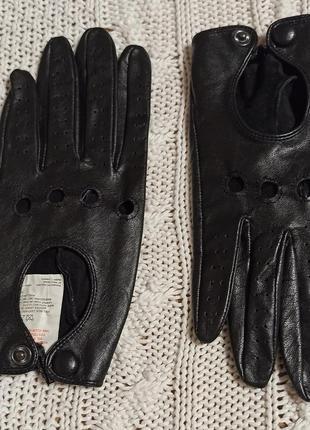 Кожаные женские автомобильные перчатки аtmosphere s / м