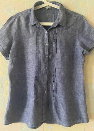 Блузка под джинс льняная moddison 40