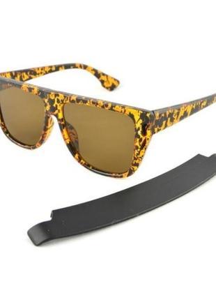 Очки-маска atmosfera оправа леопард с козырьком защита от лучей