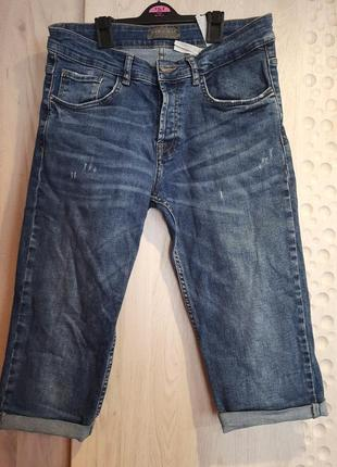 Мужские бриджи/шорты джинсовые