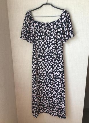 Супер платье миди dorothy perkins в анималистический принт из вискозы с разрезом