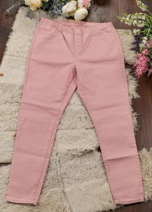 Джегінси великого розміру рожеві c&a, летние джеггинсы большого размера плюс сайз пудра