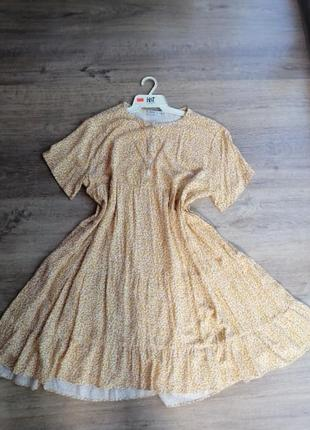 Платье из натуральной ткани.