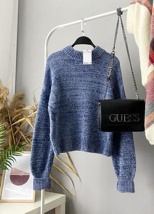 sale велюровый свитер с люрексом h&m