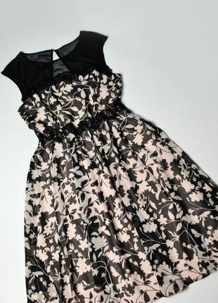 Платье летнее с кружевом в цветы от monsoon