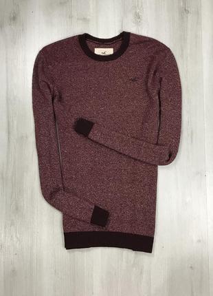 F7 свитер темно-красный бордовый hollister кофта свитшот толстовка худи