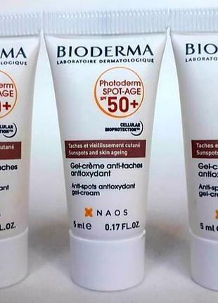 Bioderma photoderm spot-age spf 50+ гель-крем против пигментации и морщин спф 50