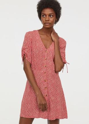 Платье сукня прованс в цветочный принт, на пуговицах ,вискоза h&m