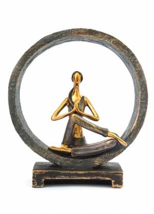 Статуэтка йога №7 полистоун