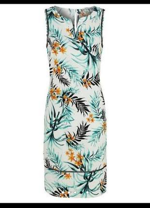 Лен платье сарафан 14 размер сукня сарафан зі льна