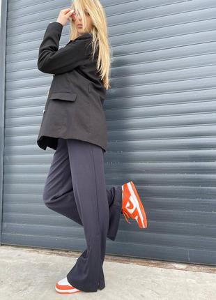 Женские кроссовки nike dunk low orange8 фото