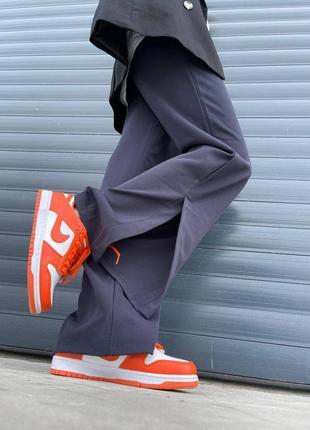 Женские кроссовки nike dunk low orange5 фото