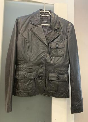 Пиджак, куртка кожаная из лайковой натуральной кожи castro