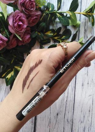Очень мягкий коричневый карандаш etual silk eye liner тон 03