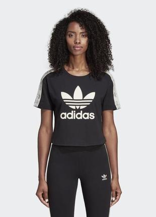 Укорочённая футболочка adidas р. xs