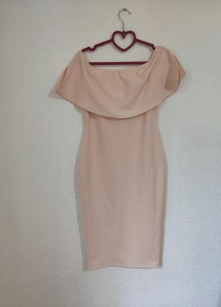 Персиковое платье prettylittlething