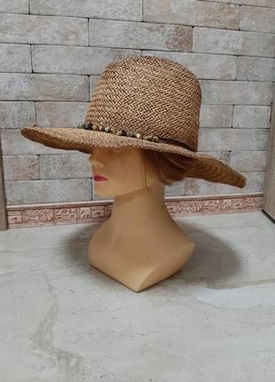 Шляпа из соломки  с эффектом амбре outrageous