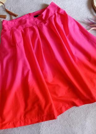 Яркая юбка с градиентом