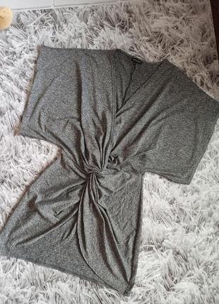 Туника river island grey, стильная блуза серая