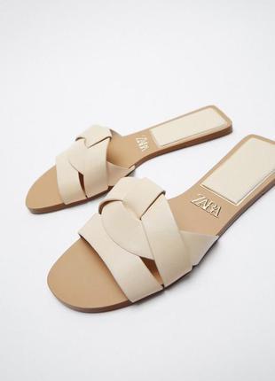 Шлепанцы zara мюли босоножки сандалии зара