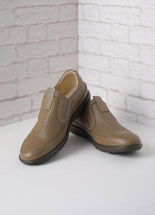 Мужские классические туфли кожаные летние туфли