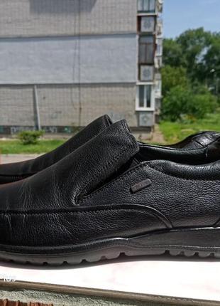 Шикарные, комфортные кожаные туфли, мокасины grunwald