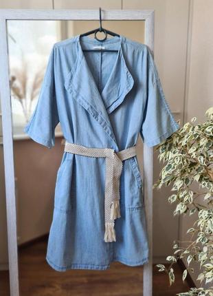 Стильное джинсовое платье - халат на запах 🌺