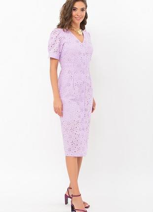 Красивое лавандовое платье клера, арт. 69644
