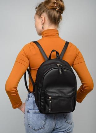 Прочный, надежный, легкий женский черный рюкзак для города