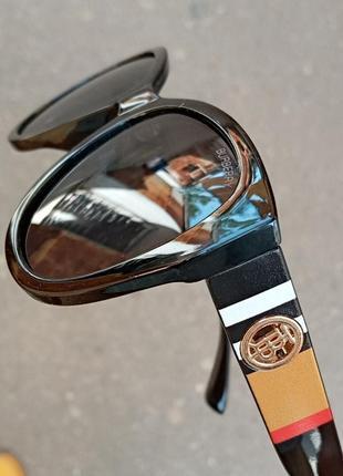 Стильные качественные крупные чёрные женские очки polarized италия