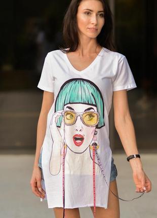 Летняя футболка туника