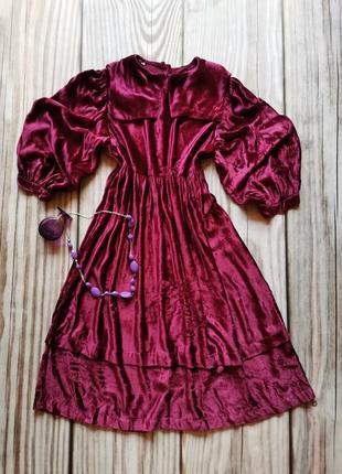 Винтажное велюровое платье