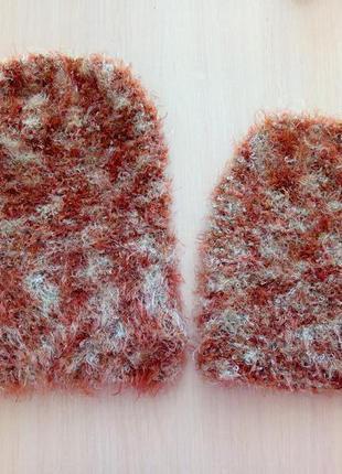 Шапки чулок бини вязаные травка